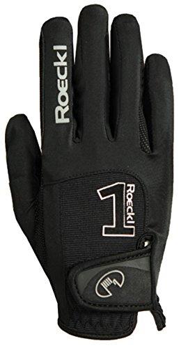 Roeckl Sports Handschuh Modell Mansfield, Unisex Reithandschuh, Schwarz, 10,5