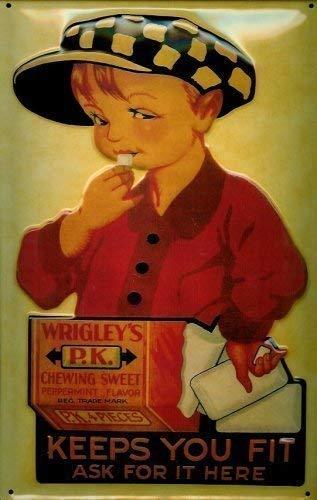 Wrigleys P.K. Kauwgom Boy metalen bord bord bord metaal tin sign 20 x 30 cm