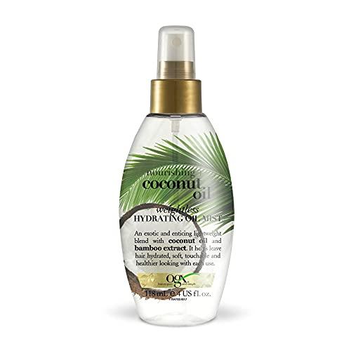 OGX Leche de Coco, aceite hidratante ligero en spray, 118 ml