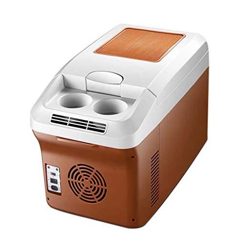 ZXW 12L Autokühlschrank, 220V AC / 12V24V DC Heiß- und Kühlbox für Autos, Autohaus Dual-Use - Kleine Gefriertruhe - Kann für Bier, Getränke, Hautpflegeprodukte, Mahlzeiten usw. verwendet Werden.
