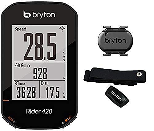 Bryton 420T Rider con Cadenza e Fascia Cardio, Nero, 83.9x49.9x16.9