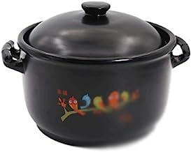 WZWHJ Black casserole, fast heat conduction, no cracking when dry, good air permeability, non slip bottom