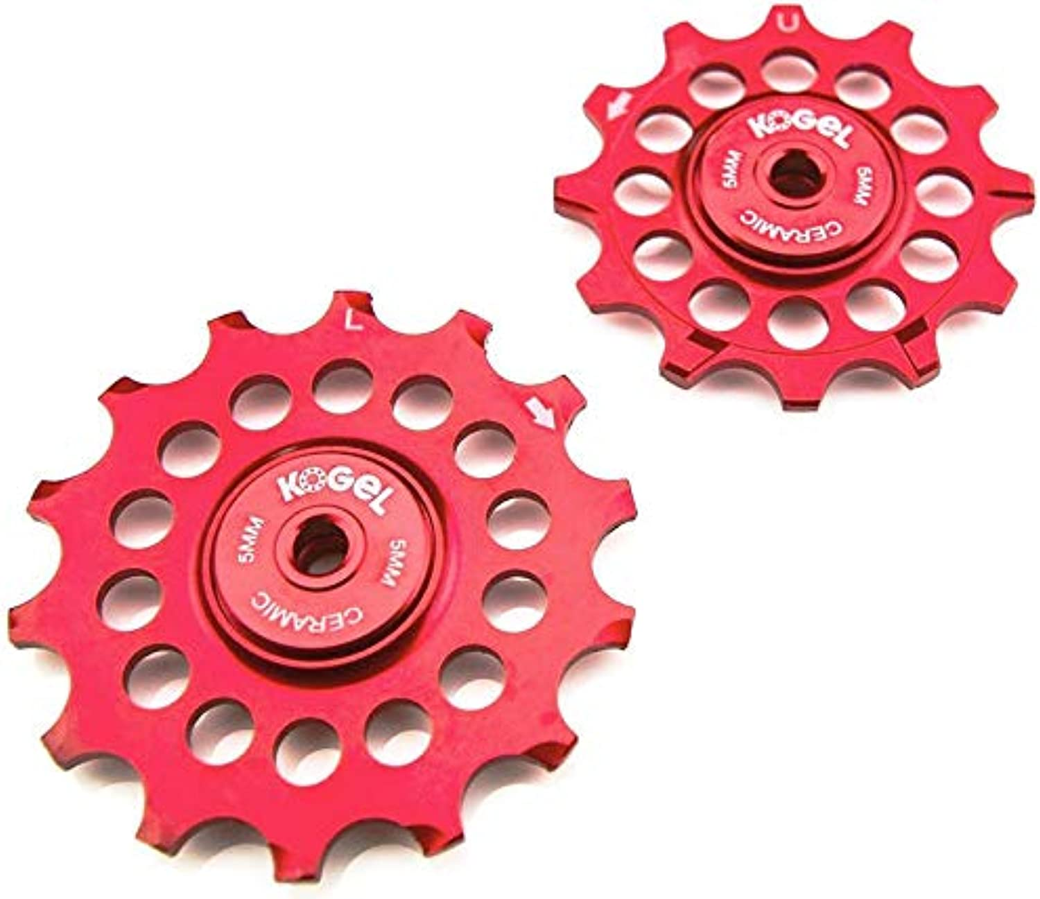 Kogel 12 14NW Narrow Wide Ceramic Oversize Road Pulley Set (Shimano) Red