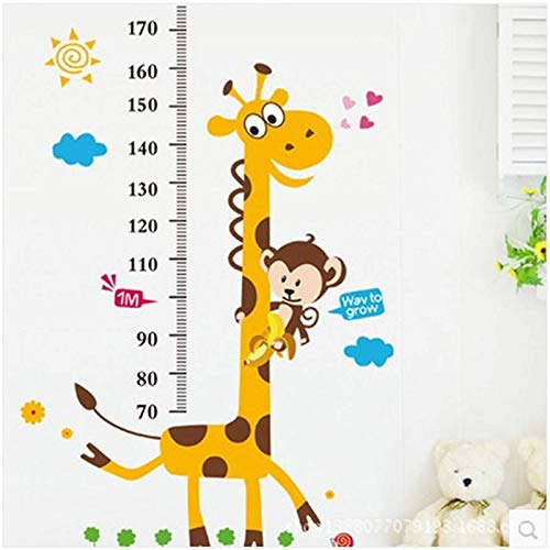 Pegatinas de altura de cervatillo para habitación de bebé, dormitorio, jardín de infantes, pegatinas de pared decorativas AM805