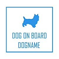 ForzaGroup 全犬種 全猫種対応 ケアーンテリア (1920) 犬 イヌ いぬ dog 防水 車 ステッカー sticker シール 名前入れ 名前入り 14cm×14cm