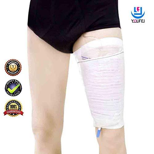 Beinbeutel für Urin Beinhalter Sleevehalterung Harninkontinenz Zubehör Komfortabel Beinbeuteltasche Carebag waschbar und wiederverwendbar (2 Stück)-XL
