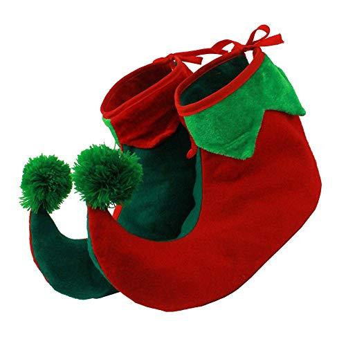 I LOVE FANCY DRESS LTD - Schuhe in Rot/Grün, Größe CHILD SIZED