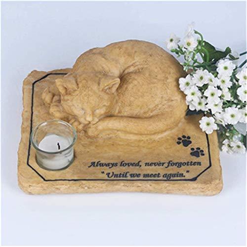 Un homenaje a la mascota patas estatuas, lápidas de los amantes de los animales jardín, amigos que perdieron gatos (puede ser mayor, al por mayor más descuento)