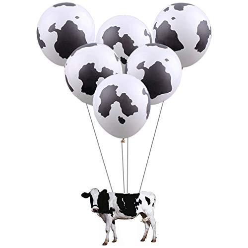 Angelliu Ballonset, 100 Stuks Koe Zwart-wit Patroon Latex Ballonnen