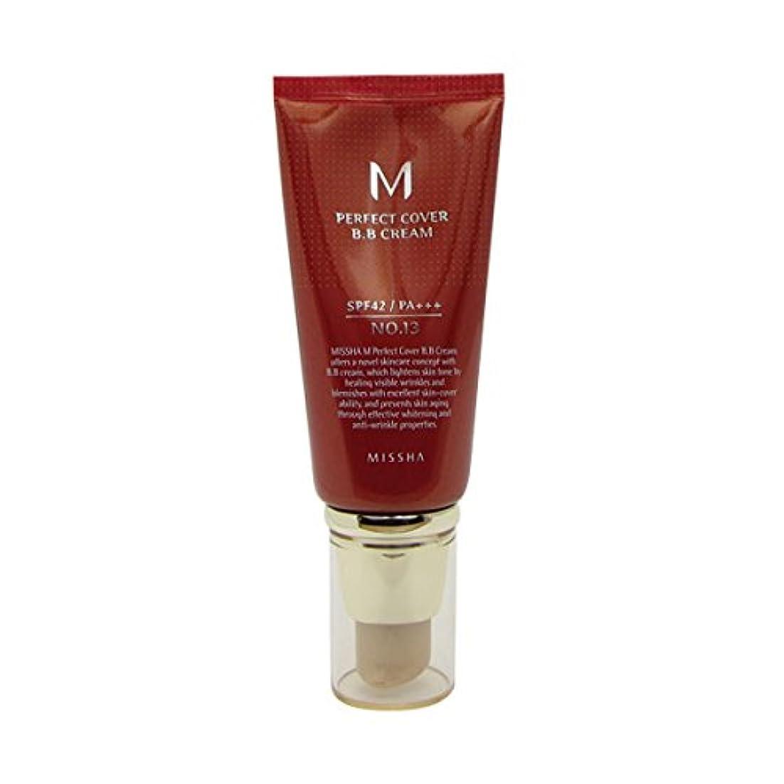 メディア性別出くわすMissha M Perfect Cover Bb Cream Spf42/pa+++ No.13 Bright Beige 50ml [並行輸入品]