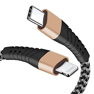 6FT USB C to Lightning Cable, Nylon Braided MFi...