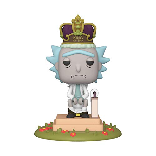 Funko-Pop Animation: Rick & Morty-King of $#+ w/Sound Rick and Morty Collectible Toy, Multicolor (45437)