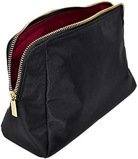 MONTROSE Medium Nylon Cosmetic Makeup Bag for Accessories & Toiletries, Black