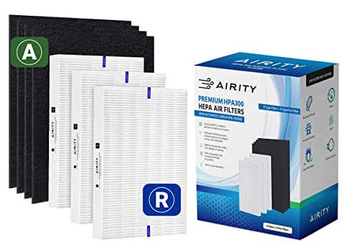 Honeywell HPA300 Compatible Air Purifier Filters by Airity   Includes 3 HEPA R Filters & 4 Carbon Prefilters   Honeywell Air Purifier Replacement Filters for Honeywell Filter R and Honeywell HPA300