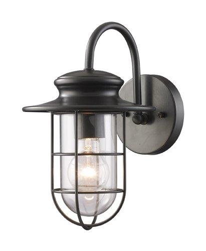 Elk 42284/1 Portside 1-Light 7-Inch W x 12-Inch H Outdoor Sconce in Matte Black