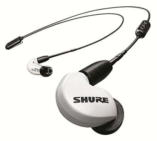 Shure SE215 BT2 Wireless Sound Isolating Earbuds, Premium Audio with Deep Bass, Single Driver, Bluetooth 5, Secure In-Ear Fit - White