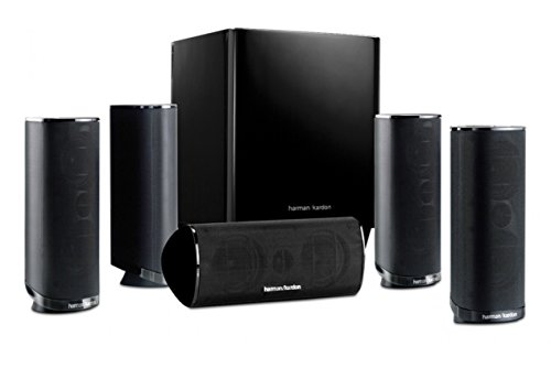 Harman Kardon HKTS 16BQ 5.1 Channel Home Theater Speaker Package (Black)