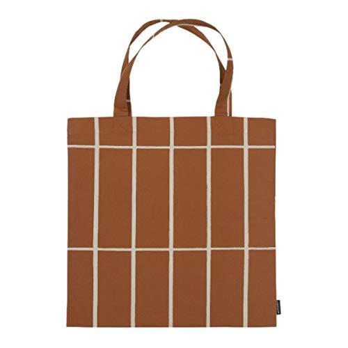 Marimekko - Tasche Tiiliskivi - Kastanie-Beige - Maße: 44 x 43 cm - 100% Baumwolle