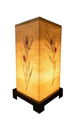 Import Nomad - Handmade Dimmable Japanese Flower Table Lamp [Work Study Decor up Light] Wood Base...