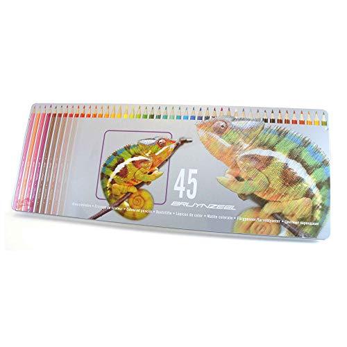 Bruynzeel - 45 Basisbuntstifte in einer Chameleonblechverpackung