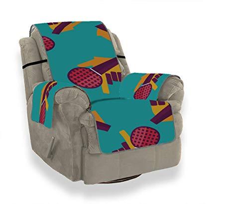 JEOLVP Trend Creative Mikrofon Great Music Sofa Matratzenbezug Couch Stuhl Schonbezug Schonbezug Armless Chair Möbel Beschützer Für Haustiere, Kinder, Katzen, Sofa