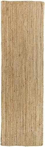 HAMID Alfombra Yute Alhambra Color Natural - Alfombra 100% Fibra de Yute (80x250cm)