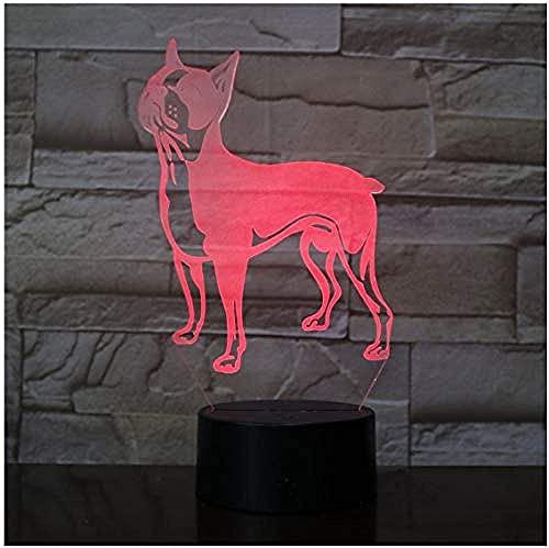 Lámpara 3D ilusión visual Ilusión óptica Luz de noche para Niños vóleibol regalo de cumpleaños para jóvenes, niñas Siete cambios de color, con interfaz USB