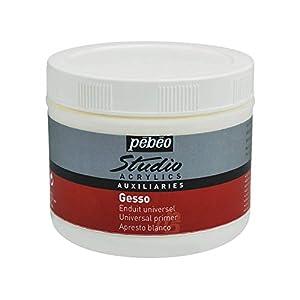 Pebeo 524102 Acrylic Studio Gesso – Pintura acrílica (500 ml)