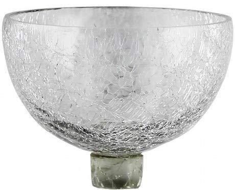 Pommerntraum | Glasaufsatz für Kerzenleuchter | Teelichtaufsatz | Windlichtaufsatz | CRAQUELÉ Schalenform