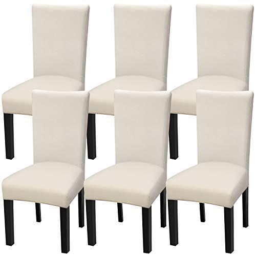 Fuloon Stretch Stuhlhusse Bi-elastische Stuhlüberzüge Schwingstuhl bezug Freischwinger Hussen für Haus Esszimmer Hochzeit Bouquet, Hotel, Restaurant Dekor (6 Stück)