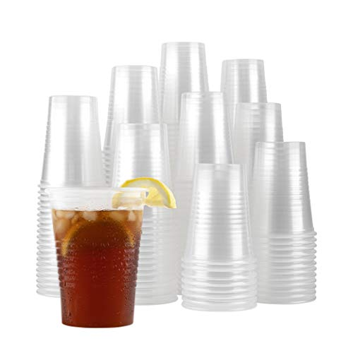 Plasticpro Plastic Disposable Drinkng Cps Durable Clear reusable (100, 16 Ounce)