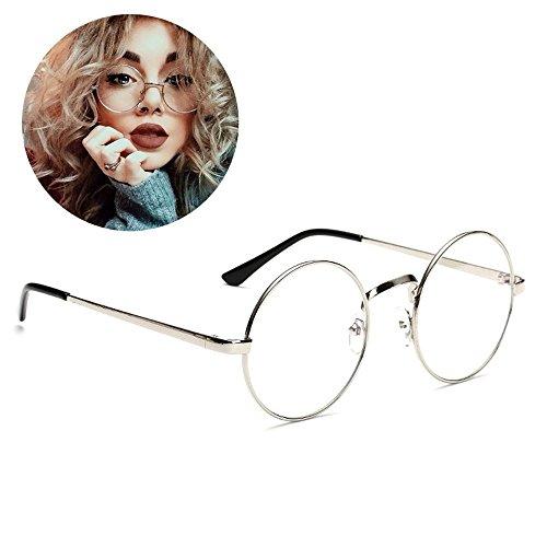 Retro Runde Brille Mit Fensterglas Damen Herren Brillenfassung