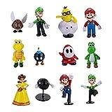 smileh Figure Super Mario Bros Mini Figurine per Feste di Compleanno 12PCS Super Mario Decorazioni per Torte