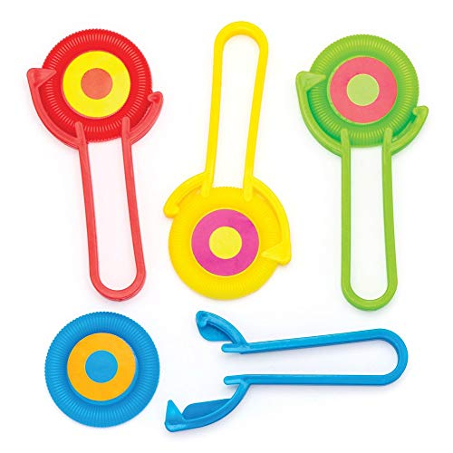 Baker Ross - Discos de juguete para niños (8 unidades), colores surtidos