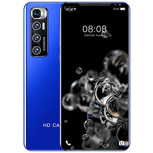 Smartphone Libre, Android 10 Teléfono Móvil, con Pantalla HD+ de 5.5', 10 Core, 3GB + 32GB(SD 128GB), AI Cámara Triple de 32MP, Batería de 5600mAh, Dual SIM,Azul