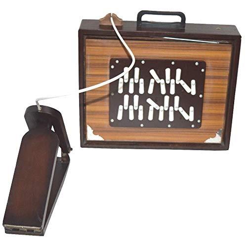 Neue Shruti Box, 16 x 13 x 3 Zoll, Sur Peti Surpeti, mit Tasche, natürlicher Farbe, Musikinstrument von INDIAN INSTRUMENTS