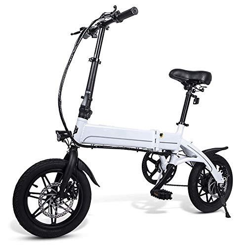 FUJGYLGL Portable Adulto Scooter eléctrico, Cuerpo de aleación de Aluminio, Plegable, Ligero, Almohada de Alta Elasticidad, Sensible frenado, Modo híbrido