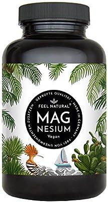 Magnesium Kapseln - 365 Stück (1 Jahr). 664mg je Kapsel, davon 400mg ELEMENTARES (reines) Magnesium - höherer Gehalt als Magnesiumcitrat. Laborgeprüft, hochdosiert. Vegan, in Deutschland produziert