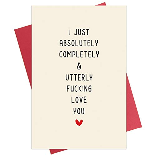 Funny Anniversary Card, Birthday Card, Valentine's Day Card for Him or Her, Love You Card