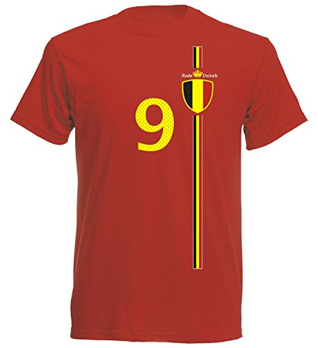 Belgien Kinder T-Shirt Trikot St-1 EM 2016 - rot Belgium (128)