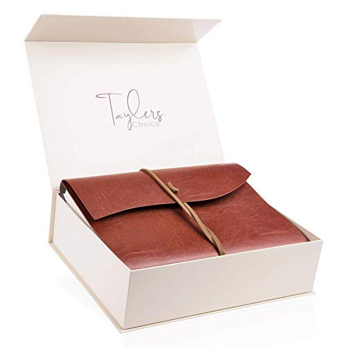 Taylers Choice Beautiful Recycled Leather Photo Album - Large A4 Scrapbook...