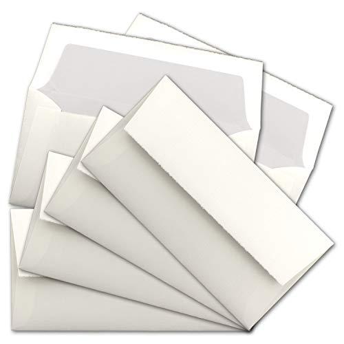 ARTOZ Rondo schept papier enveloppen DIN lang 109 x 217 mm - gevoerd 100 Stück natuurlijk wit