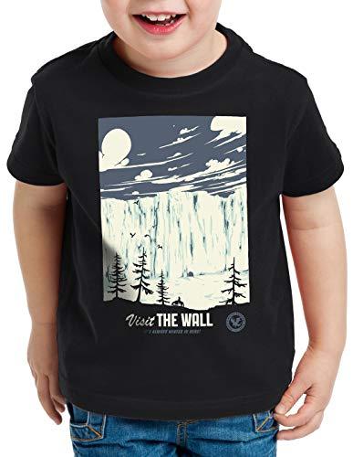 style3 El Muro Camiseta para Niños T-Shirt Nieve Guardia de la Noche John invernalia Snow, Talla:164