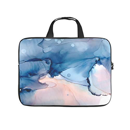 Funda para portátil resistente al agua, textura de mármol, para trabajo, negocios, universidad, viajes, White (Blanco) - Annlotte452