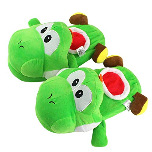 lhtczzb Super Mario Bros Series Warm Slippers 30Cm, Yoshi Egg Yoshi with Apple Plush Toys Dragon Yoshi Indoor Christmas Birthday Gift
