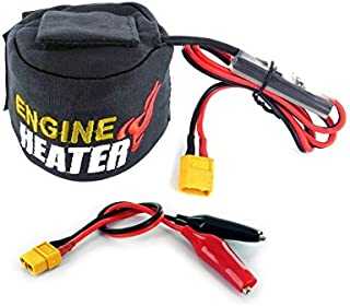 SKYRC Engine Head Heater w LiPo Low Voltage Cutoff Detection, 12V DC Powered, Fits .19 to .26 Sized Nitro Engines, XT60 Connectors & Alligator Clips