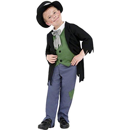 NET TOYS Traje de mendigo Victoriano Disfraz pobre Atuendo Infantil Carnaval