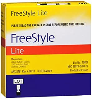 FreeStyle Lite Blood Glucose Test Strips - 50 ct, Pack of 10