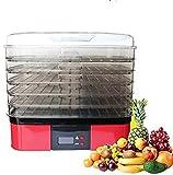 LJJOO Máquina de deshidratador de alimentos con control de temperatura Pantalla táctil perfecta for carne de resistida, fruta, verduras, hierbas, flores y pescado, 6 bandejas Deshidratadores