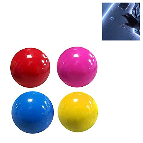 AKEKE Fluorescent Sticky Target Anti Stress Reliever Balls, Globbles Squish Stress Ball Sticky Wall Balls, Alleviate Tension, Anxiety, Decompression Toy Anxiety Stress Toys for Kids and Adults (4 PCS)